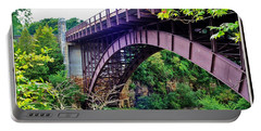 Historic Ausable Chasm Bridge Portable Battery Charger by Patti Whitten