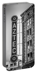 Historic Aztec Theater Portable Battery Charger by Melinda Ledsome