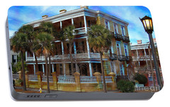 Portable Battery Charger featuring the photograph Historic Charleston Mansion by Kathy Baccari
