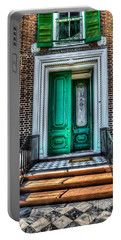 Historic Charleston Sc Door Portable Battery Charger