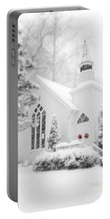 Portable Battery Charger featuring the photograph White Christmas In Oella Maryland Usa by Vizual Studio