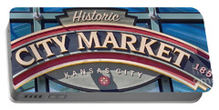Historic City Market Sign  Portable Battery Charger