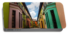 Historic Colorful Buildings Portable Battery Charger