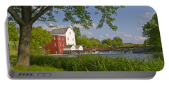Historic Flour Mill By A River Portable Battery Charger