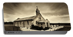 Historic Old Adobe Spanish Style Catholic Church San Ysidro New Mexico Portable Battery Charger