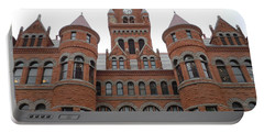 Portable Battery Charger featuring the photograph Historic Old Red Courthouse Dallas #1 by Robert ONeil