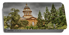 Portable Battery Charger featuring the photograph Historic Placer County Courthouse by Jim Thompson