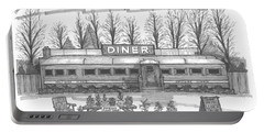 Historic Village Diner Portable Battery Charger