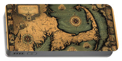 Historical Map Of Cape Cod Portable Battery Charger