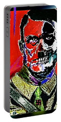 Portable Battery Charger featuring the painting Hitler  - The  Face  Of  Evil by Hartmut Jager