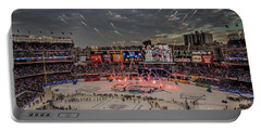 Hockey At Yankee Stadium Portable Battery Charger by David Rucker