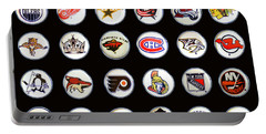 Hockey League Logos Bottle Caps Portable Battery Charger