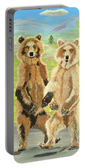 Hoedown On The Tundra Portable Battery Charger by Phyllis Kaltenbach