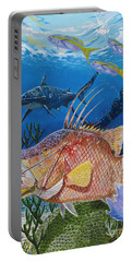 Hog Fish Spear Portable Battery Charger by Carey Chen