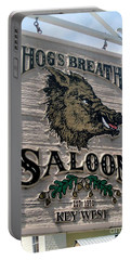 Portable Battery Charger featuring the photograph Hog's Breath Saloon by Fiona Kennard
