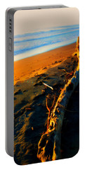 Portable Battery Charger featuring the photograph Hokitika Beach New Zealand by Amanda Stadther