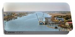 Holden Beach In Nc Portable Battery Charger by Cynthia Guinn