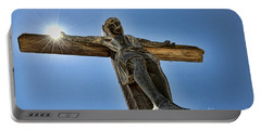 The Son Holding The Sun In Mission Soledad By Diana Sainz Portable Battery Charger