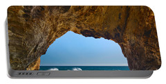 Hole In The Wall - Natural Tunnel In Santa Cruz Portable Battery Charger