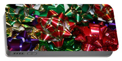 Portable Battery Charger featuring the photograph Holiday Bows by Denyse Duhaime