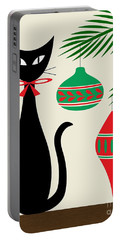 Holiday Cat On Cream Portable Battery Charger