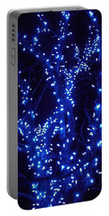 Holiday Glow Blue Portable Battery Charger by Darren Robinson