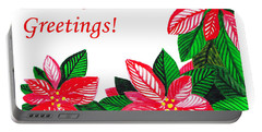 Holiday Greetings Portable Battery Charger