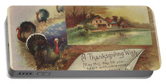 Holiday Postcards Vii Portable Battery Charger