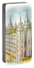 Portable Battery Charger featuring the painting Holiness To The Lord by Greg Collins