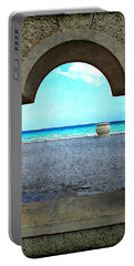 Hollywood Beach Arch Portable Battery Charger by Joan  Minchak
