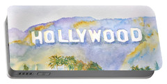 Hollywood Sign California Portable Battery Charger by Carlin Blahnik