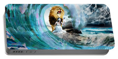 Holy Roar Portable Battery Charger by Dolores Develde