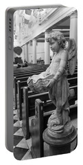 Holy Water Angel In Church Portable Battery Charger