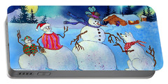 Home For The Holidays Portable Battery Charger by Teresa Ascone