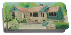 Portable Battery Charger featuring the painting Home Sweet Home by Jeanne Fischer