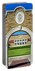 Portable Battery Charger featuring the photograph Homecoming Bonfire Arch by Mae Wertz