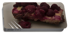 Portable Battery Charger featuring the photograph Homemade Cheesecake by Miguel Winterpacht