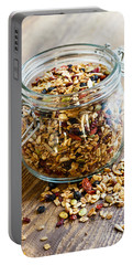Homemade Granola In Glass Jar Portable Battery Charger