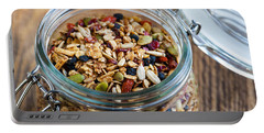 Homemade Granola In Open Jar Portable Battery Charger