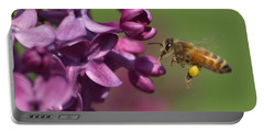 Honey Bee And Lilac Portable Battery Charger
