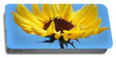 Portable Battery Charger featuring the photograph Honey Bee Heading In To Party by Belinda Lee