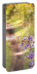 Portable Battery Charger featuring the photograph Honey Bee On Purple Aster by Brooke T Ryan