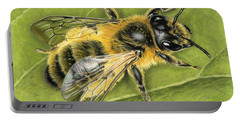 Honeybee On Leaf Portable Battery Charger