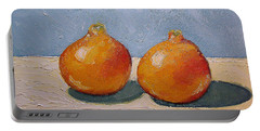 Portable Battery Charger featuring the painting Honeybells - The Perfect Couple by Katherine Miller