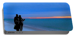 Honeymooners At Dawn On Pensacola Beach Portable Battery Charger
