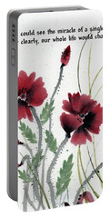 Portable Battery Charger featuring the painting Honor With Buddha Quote I by Bill Searle