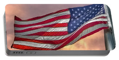 Portable Battery Charger featuring the photograph Honoring The Heroes  by Charlotte Schafer
