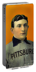 Honus Wagner Baseball Card 0838 Portable Battery Charger