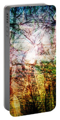 Portable Battery Charger featuring the mixed media Hoosier Country Opus 1 by Sandy MacGowan