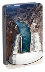Portable Battery Charger featuring the photograph Hoover Dam Black Canyon by John Schneider